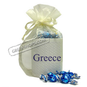 Coffee Mug Gift Package with Greek Candy - Greece ( in English )