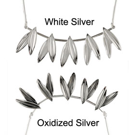 The Elaia Collection - Sterling Silver Necklace - Olive Leaves (65mm)