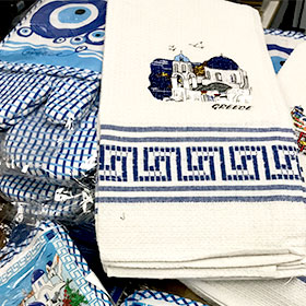 Decorative Greek Landscape Kitchen towel sets