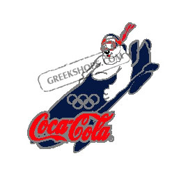 Torino 2006 Coca Cola Bobsled Bear Pin