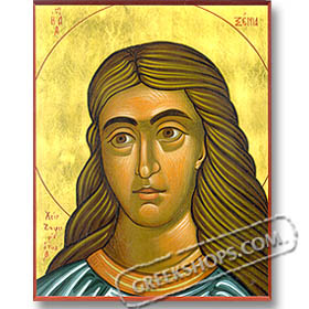 "St. Xenia (8x10"") Hand-made Icon"