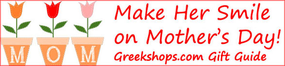 Greekshops.com Mother's Day Gift Guide 2013