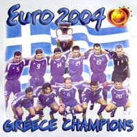 Euro 2004 Greek Team w/ Coach Tshirt