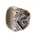Neoclassic Collection :: Square Spiral Motif Adjustable Ring (17mm)