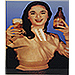 Vintage Greek Advertising Posters -  Fix Beer - Aliki Vougiouklaki Beer Promo (1960s)