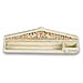 Molivothiki Aetoma - Pediment Pencil Holder (10x3 in.)