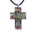 Murano Glass Cross-Shaped Pendant - Green