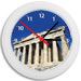 Greek Time - Parthenon West View Wall Clock