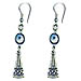 Evil Eye Greek Key Earrings Style EK26