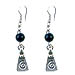 Evil Eye Greek Swirl Motif Earrings Style EK29