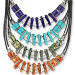 Geometric Collection - Necklace with Greek Key Motif KE285 (4 Color Options)