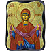 Orthodox Saint - Holy Protection of the Theotokos - 10x13cm Handcarved