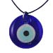 Glass Evil Eye Necklace with Leather 103319