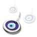 Decorative Glass Evil Eye - Platinum - Style 3_PL