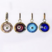 14K Gold Faceted Blue Glass Evil Eye 9mm -  5 color options