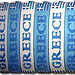 GREECE rubber band bracelet (white or blue)