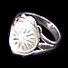 Sterling Silver Star of Vergina Ring JP107R