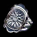 Sterling Silver Star of Vergina Ring JP108R