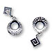 Sterling Silver Circular Greek Key Dangle Earrings (27mm)