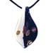 Murano Glass Teardrop Pendant - Black & White