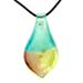 Murano Glass Teardrop Pendant - Rainbow