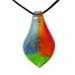 Murano Glass Teardrop Pendant - Tri-Color