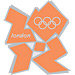 London 2012 Orange Logo Pin