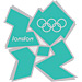 London 2012 Green Logo Pin