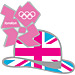 London 2012 Bowler Hat / Union Flag Pin