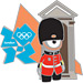 London 2012 Mascot Wenlock Palace Guard Pin
