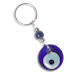 Evil Eye Keychain with Blue Glass Bead