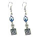 Evil Eye Greek Key Earrings Style EK24