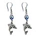 Evil Eye Minoan Dolphin Earrings Style EK50