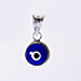 Sterling Silver - Evil Eye 2 Sided Pendant (8mm)
