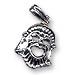 Sterling Silver Satyre Theater Pendant (30x17mm)