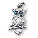Sterling Silver Perched Owl Pendant (22mm)