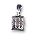 Sterling Silver Erechtheum and Caryatids Pendant (22x12mm)
