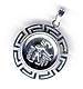 Silver Two-Sided Circular Pendant 2.3 cm - 4 styles - Alexander, Parthenon, and more