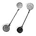 Sterling Silver Phaistos Disk Dangle Earrings (7.5cm)