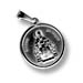 Sterling Silver Platinum Plated Pendant - Religious Icon - St. Spyridon (1.6cm)