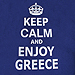 Keep Calm and Enjoy Greece Navy Blue Tshirt Style D420