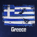 Vintage Greece & Greek Flag 100% Cotton Tshirt Style D276