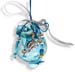 "Glass Pomegranate Good Luck Ornament (Gouri) - 3.5"" blue round"