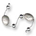 Sterling Silver Begleri Small Oval Beads (gray)