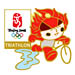 Beijing 2008 Huanhuan Triathlon Olympic Sports Pin