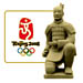 Beijing 2008 Sculpted Terra Cotta Kneeling Warrior Olympic Pin