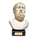 "Plato Bust 9"" (23 cm) in Bronze or Marble Color"